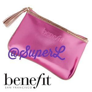 2/$15 Benefit Makeup Cosmetic Travel Bag Purse